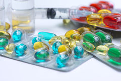 Capsules and Injections Royalty Free Stock Photography
