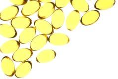 Capsules jaunes de gel Image libre de droits