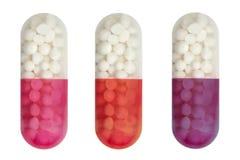 capsules läkarundersökning Arkivfoton