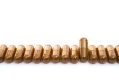 Capsules line up Royalty Free Stock Image