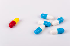 Capsules of medicament Stock Photo