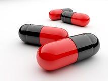 Capsules met geneeskunde Stock Fotografie