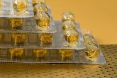 Capsules Omega-3 Photographie stock libre de droits