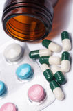 Capsules and pills Royalty Free Stock Photo