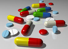 Capsules and pills Royalty Free Stock Photos