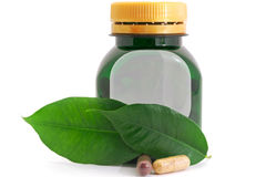 Capsules Pills Bio and Bottle Royalty Free Stock Photos