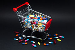 Capsules and pills Royalty Free Stock Image