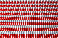 Capsules. Red and white in a row Royalty Free Stock Photos