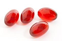 Capsules rouges de gel Images libres de droits