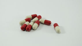 Capsules rouges et blanches Photos stock