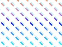 Capsules symétriquement distribuées et multicolores sur le fond blanc illustration libre de droits
