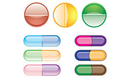 Capsules and tablets Stock Images