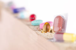 CAPSULES AND TABLETS Royalty Free Stock Photography