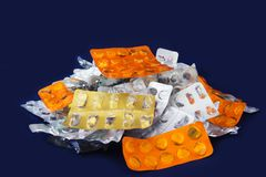 Capsules and Tablets Stock Photography