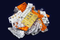 Capsules and Tablets Stock Photos