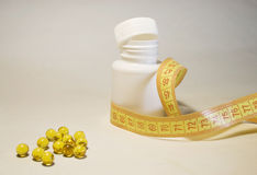 Capsules van vitamine E Stock Foto