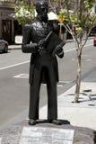 Capt James Stirling Statue - Perth - Australien arkivfoto