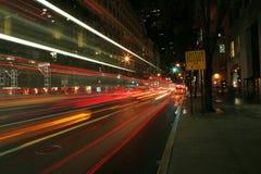 Captação da noite da á avenida Fotos de Stock Royalty Free