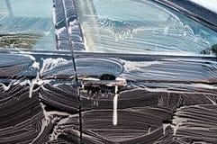 Captação de um fim do carro que começ acima lavado Imagens de Stock