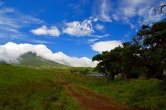Captain湖。Pico海岛。亚速尔群岛 图库摄影