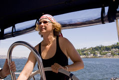 captain девушка милая стоковое фото