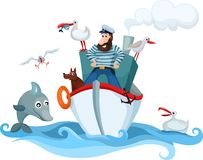Captain royalty free illustration