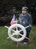 Captain. Sea Captain - lawn sculpture Royalty Free Stock Photos