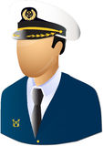 Captain. Ship master with technical equipment Stock Photography