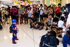 Captain America cosplay. Royalty Free Stock Photos
