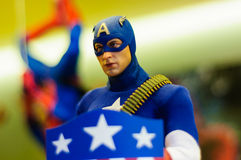 Captain America Figurine Stock Photo