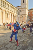 Captain America at Lucca Comics and Games 2014 Stock Photos