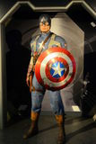 Captain America - Marvel Avengers. Madame Tussauds in London - Avengers exposition Royalty Free Stock Images