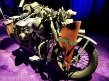 Captain America`s World War II motorcycle from Captain America: The First Avenger stock photo