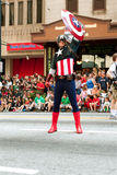 Captain America Salutes Spectators At Atlanta Dragon Con Parade Stock Photography