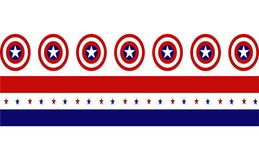 Captain America Shield with red and blue strips with stars royalty free stock image