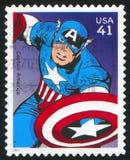 Captain America. UNITED STATES - CIRCA 2007: stamp printed by United states, shows Captain America, circa 2007 stock image