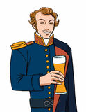 Captain beer stock illustration