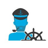 Captain blue icon Royalty Free Stock Image