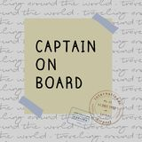 Captain on board print vector. royalty free illustration