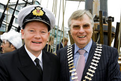 Captain Brian Sheridan  and Paul T.Shelly. Galway,Ireland-September 25,2009:Captain Brian Sheridan (Harbour Master) and Paul T.Shelly,President of Galway Chamber Royalty Free Stock Image