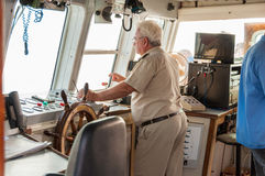 The Captain is on the bridge Royalty Free Stock Images
