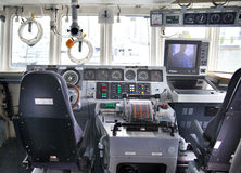 Captain cabin Military ships based in Canary Wharf aria, London Stock Photo