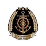 Captain_cap_badge 皇族释放例证