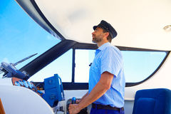 Captain cap sailor boating boat indoor Royalty Free Stock Photography