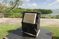 Captain Cook's Landing Site in Tonga. Historic landing site in Tongatapu in Tonga stock photography