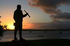 Captain cook. Monument in cooktown, australia Royalty Free Stock Photos