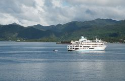 Captain Cook Cruises in the Pacific Islands royalty free stock photography