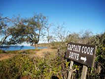 Captain Cook drive. Near a beach in the town of 1770, Australia royalty free stock image