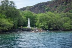 Captain Cook Monument Hawaii royalty free stock photography