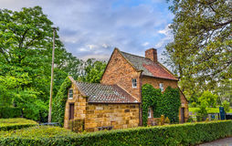 Captain Cook`s Cottage in Fitzroy Garden - Melbourne, Australia Royalty Free Stock Photography